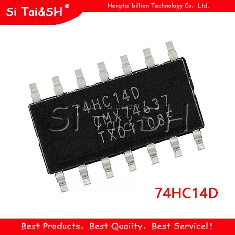 10PCS 74HC14D SOP14 74HC14 SOP SN74HC14DR SN74HC14 SMD nuovo e originale IC