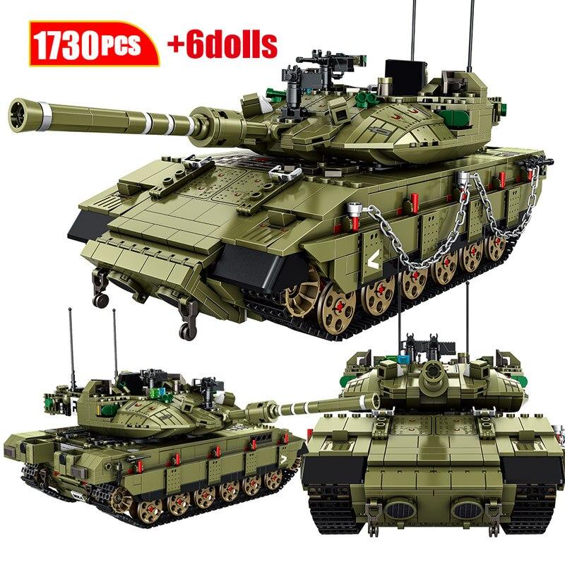 1730 шт город военный MK4 главный боевой танк модель строительные блоки WW2 армейский солдат образование в цифрах Кирпичи игрушки для детей