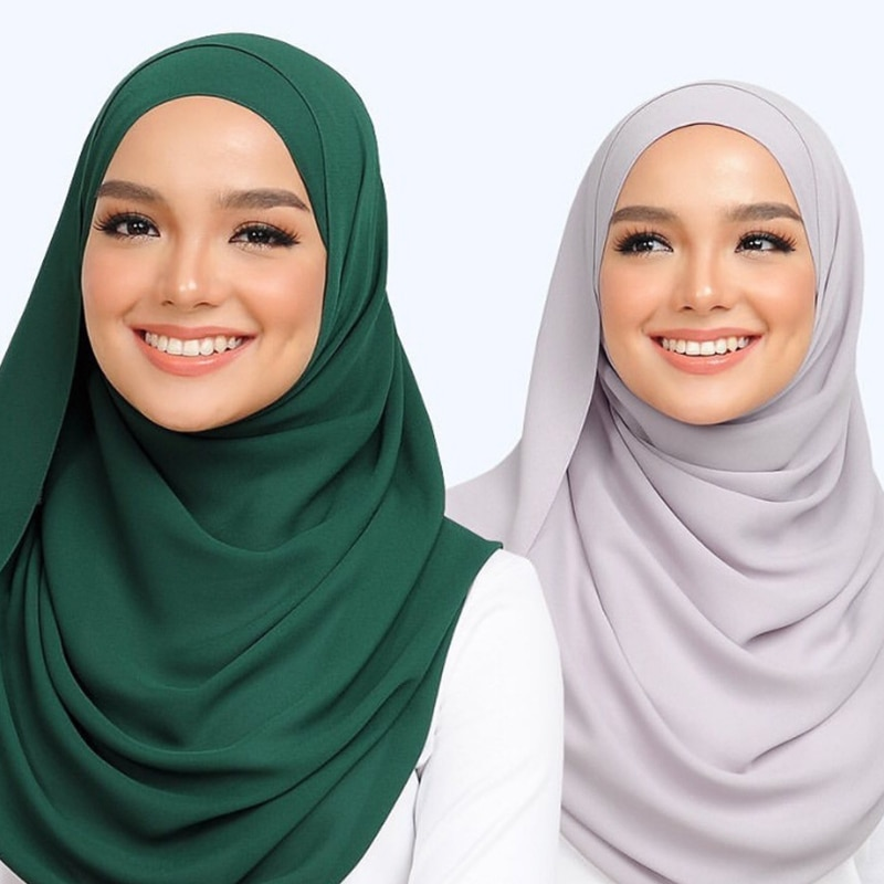 plain hijab bubble chiffon scarf women solid color muslim shawls hijabs headband islamic headscarf turban echarpe foulard femme premium floral printed chiffon hijab scarf women muslim headscarf shawls and wraps islamic scarves turban headband foulard femme