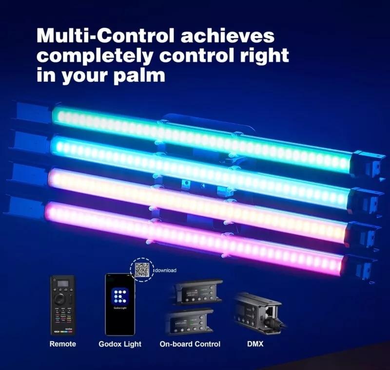 Godox TL60 Tube Light RGB Color Handheld Light Stick Pavotube support Remote APP Control Photography Studio Lighting