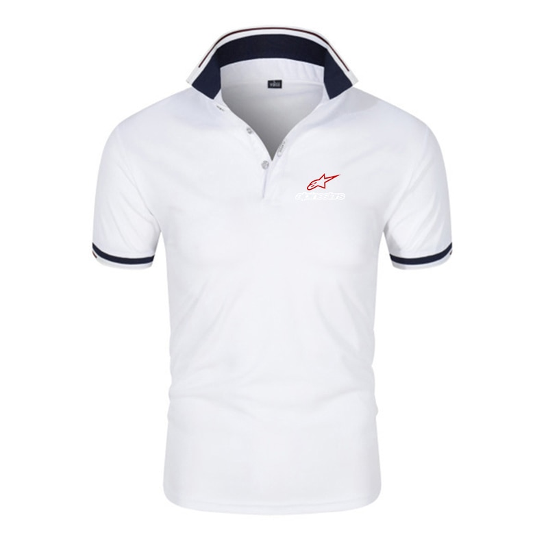 New summer high-quality breathable men's polo shirt casual sports social business short-sleeved men'