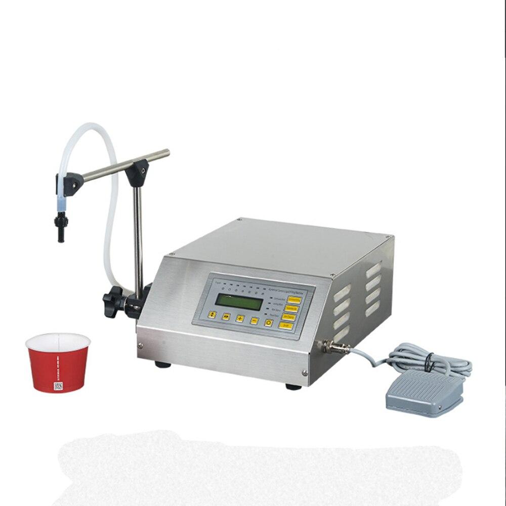 CNC السائل المياه الجرعات آلة مصغرة زجاجة المياه حشو الفولاذ المقاوم للصدأ ملء آلة GFK-160