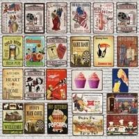 Plaque de cafe Vintage en metal  30x20cm  Plaque de pop-corn  mur retro  cafe  boutique  Art de la maison  decor de cinema artisanal