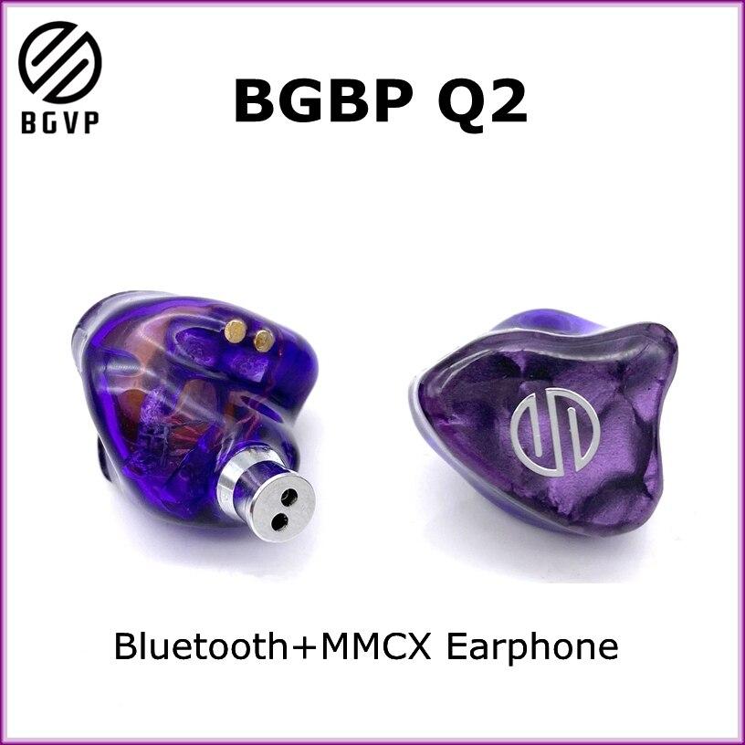 2020 nova bgvp q2 tws febre fone de ouvido sem fio bluetooth fones estéreo alta fidelidade sem fio + mmcx dupla finalidade fone com microfone
