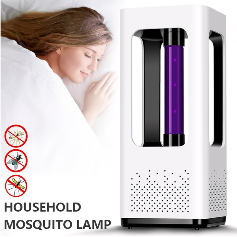 Lámpara UV para matar mosquitos, trampa antimosquitos, Exterminador de insectos eléctrico con...