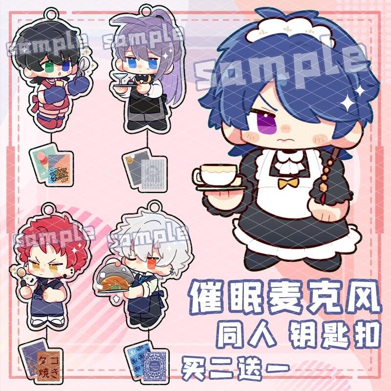 Divisão rap batalha hipnose mic chaveiro ichiro yamada ramuda acrílico anime chaveiro cosplay saco pingente decoração brinquedo presente de natal
