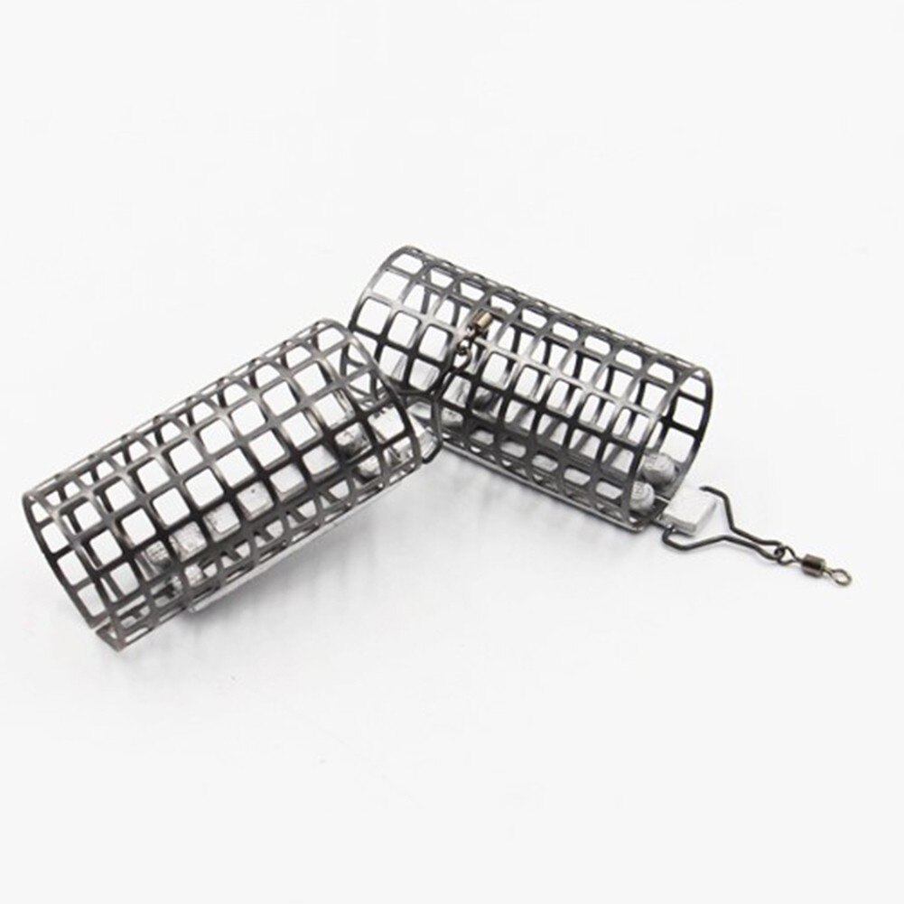 10pcs/set Lead Bait Cages Pesca Portable Coarse Carp Fishing Metal Cage Swim Feeders With Sinker Lure Cage Silver Fish Tackle enlarge