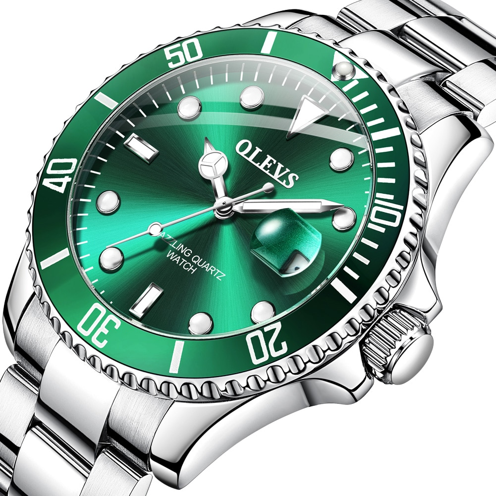 Masculinos de Negócios Moda à Prova Relógio de Pulso Olevs Relógios Dwaterproof Água Quartzo Masculino Marca Superior Luxo Cinta Aço Inoxidável Esporte Relógio