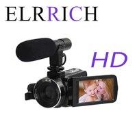 ELRRICH 4K 48 мегапиксельная Спорт FHD-DV4K Новый профессиональный цифровой Камера Высокое разрешение сенсорный Экран для подводной съемки на глуби...