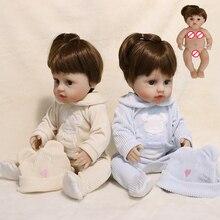 JINGXIN princess Full Silicone Vinyl Reborn Baby Doll Waterproof Doll Short Hair Soft Real Touch Bath Play Toys Gift Birthday