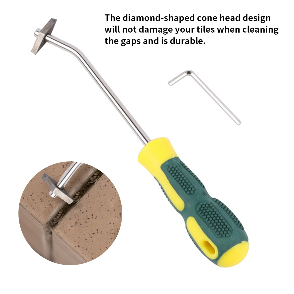 Professional Ceramic tile grout remover Tungsten Steel Tile Gap cleaner Drill Bit for Floor Wall seam Cement Cleaning hand Tools