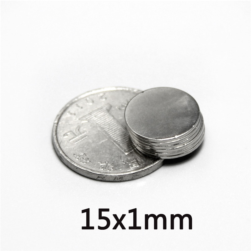 20/30/50 pces 15x1 ímãs poderosos 15mm x 1mm granel folha ímã de neodímio 15x1mm permanente ndfeb forte magnético 15*1