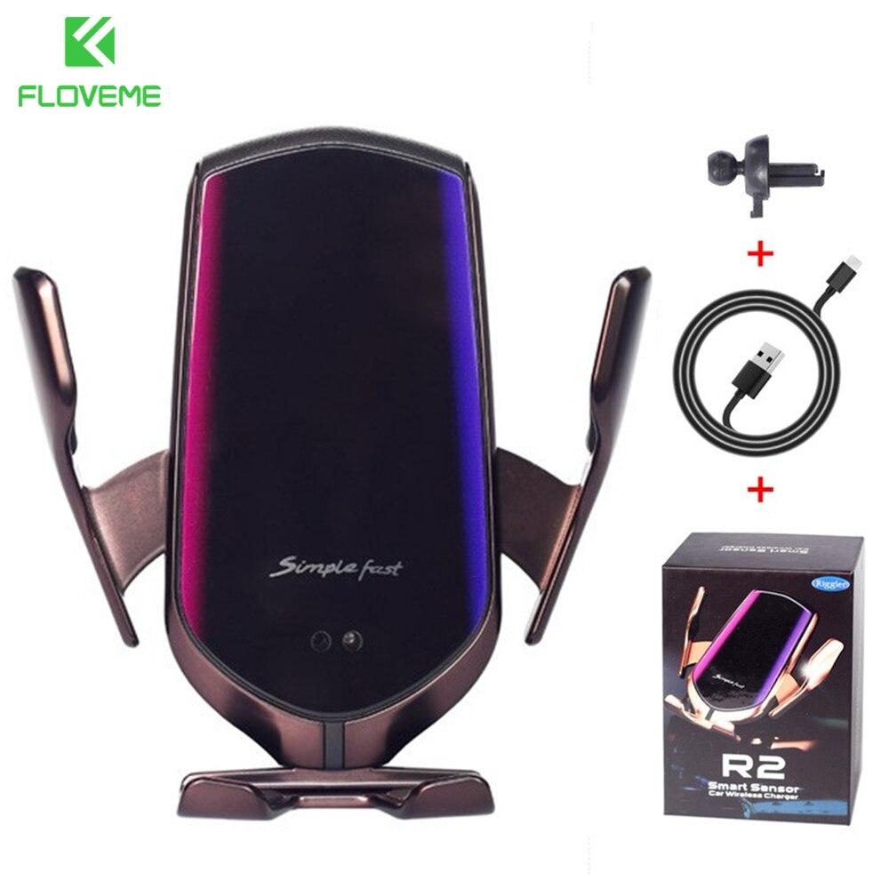 floveme r2 inteligente sensor infravermelho suporte do telefone carro para o iphone
