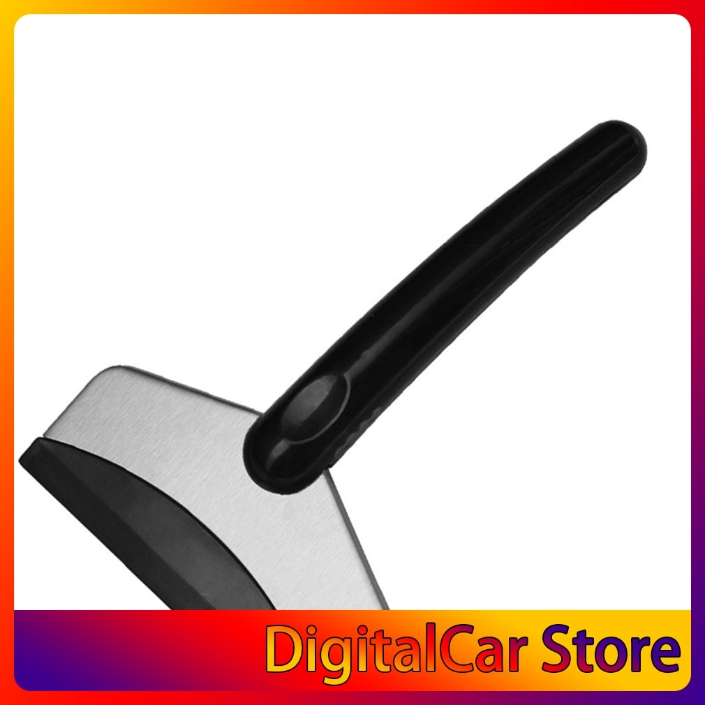 Car Snow Shovel Stainless Steel Snow Scraper Household Refrigerator Defroster Shovel Short Car Accessories