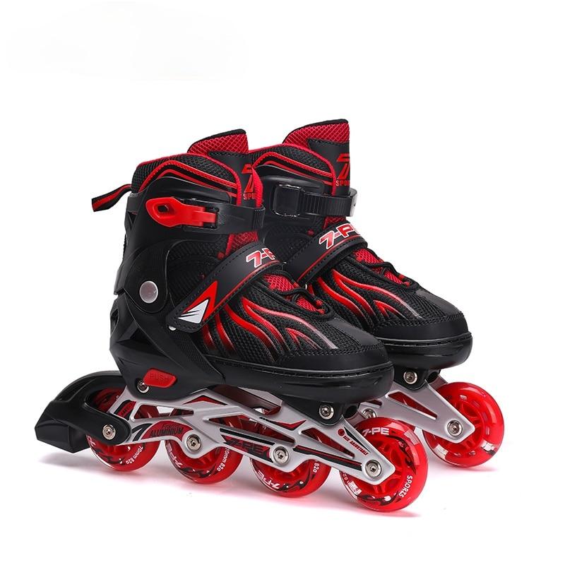 Роликовые коньки для начинающих, обувные ролики, тренировочные роликовые коньки, обувь для катания на коньках, четырехколесные коньки, детс...
