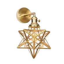 Lámpara de cristal de diamante, accesorios de lámparas de pared, candelabro nórdico de cobre puro, luz para espejo de baño, lámpara de pared, aplique de pared