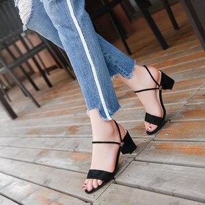 High Heels Summer Shoes Women Sandals Block Heels Pumps Slippers Women Outdoor Casual Sandals for Women Ladies Shoes High Heels