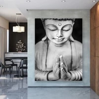 chinese style buddhism canvas painting religious poster print for living room modern nordic wall art home decoration cuadros