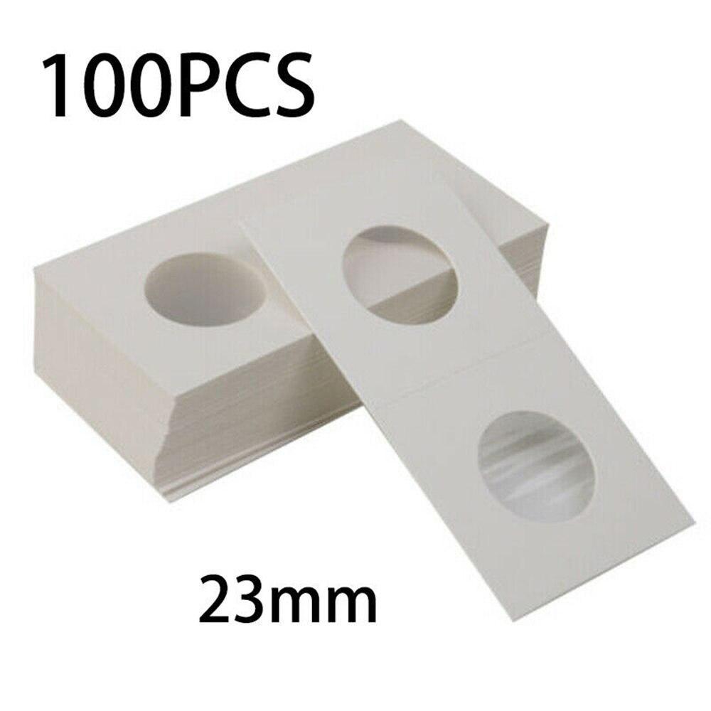 Porte-monnaie en carton 100 pièces   Carré porte-monnaie Cent porte-monnaie en carton, étui de rangement pour pièces de 23/27.5mm