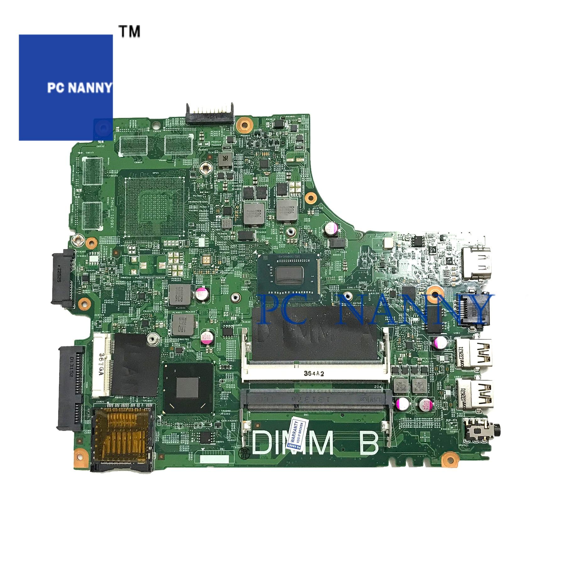 PCNANNY PARA Inspiron 3421 Laptop motherboard 0JK9FM JK9FM 12204-1 SR105 DDR3 2127U CPU testado