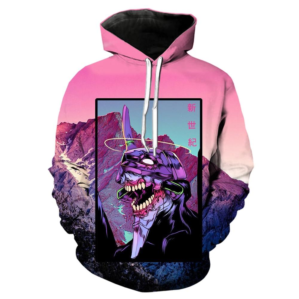 3d print anime evangelion clothes men harajuku hip hop shorts home hoodies sweatshirt/shirts jacket coat trousers Send Gift