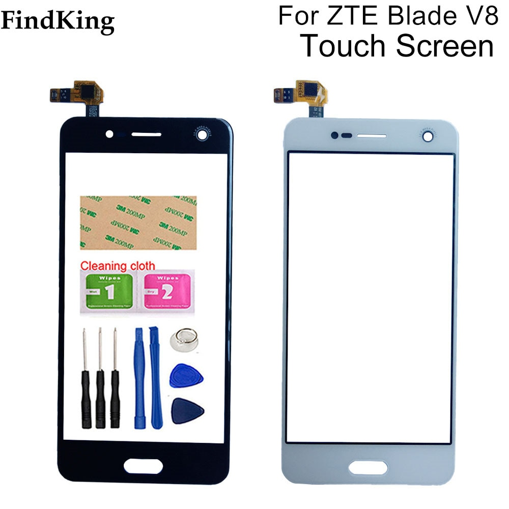 5.2'' Mobile Phone Touch Screen Glass For ZTE Blade V8 Touch Screen Front Glass Digitizer Panel Lens