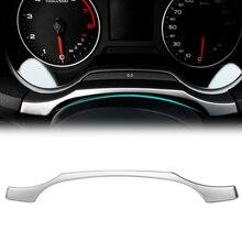 Стайлинг приборной панели автомобиля отделка кольцо украшение рамка синий стикер из нержавеющей стали для Audi A3 8V седан хэтчбек Sportback 2013-2017