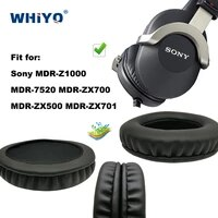 replacement ear pads for sony mdr z1000 7520 zx 700 500 701 headset parts leather cushion velvet earmuff earphone sleeve cover