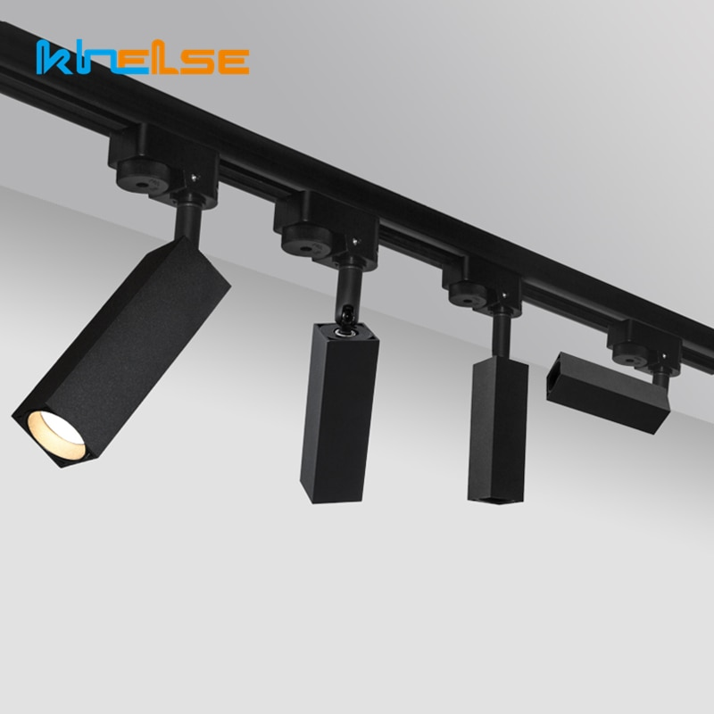 Nordic 5W/7W LED Track Light Rail Lamp Surface Mounted Ceiling Spot light Rotation Store Exihibition Hall Track Lighting Fixture