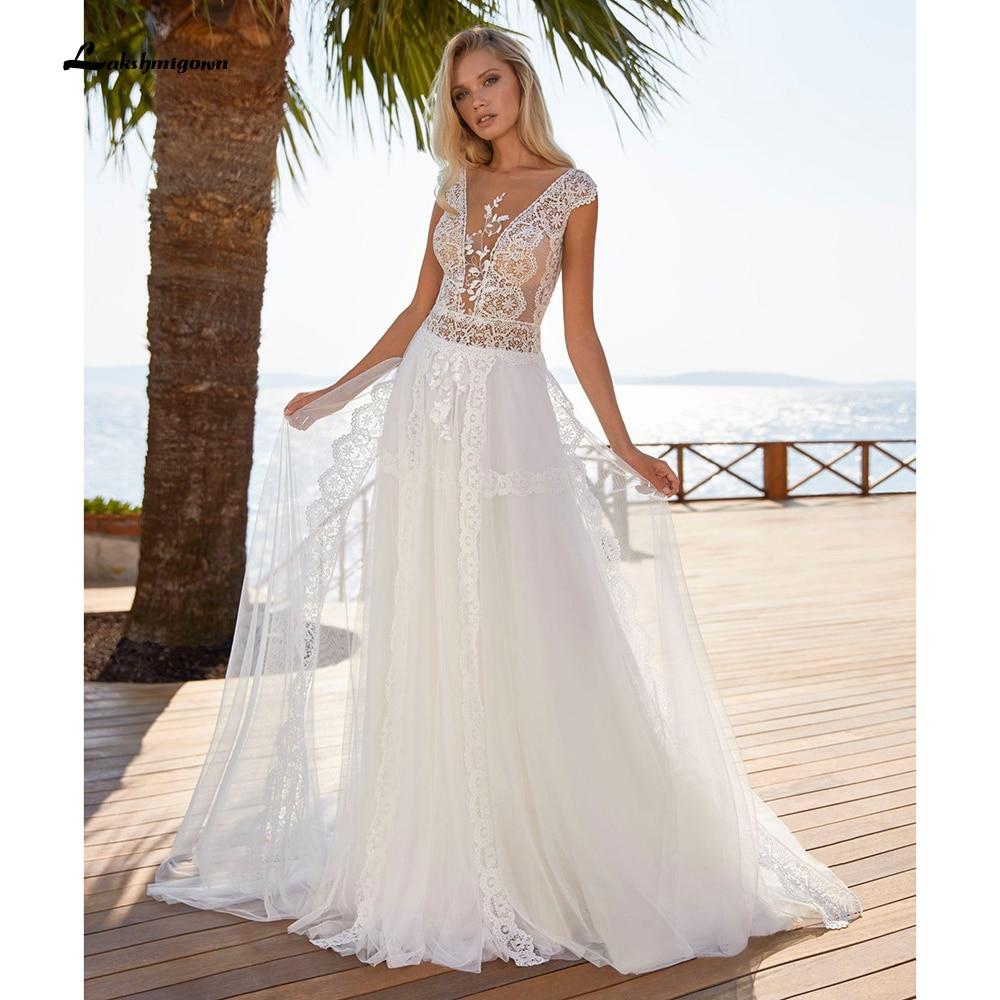 Bata de novia con escote en V profundo, vestidos de novia con...