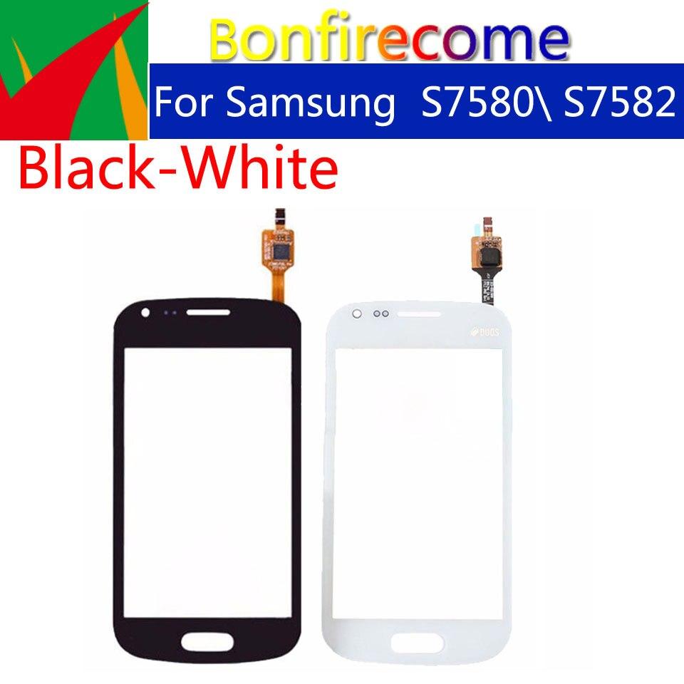 10pcs  lot para Samsung Galaxy Trend Plus S7580 S7582 Panel de pantalla táctil digitalizador de cristal frontal lente exterior pantalla táctil