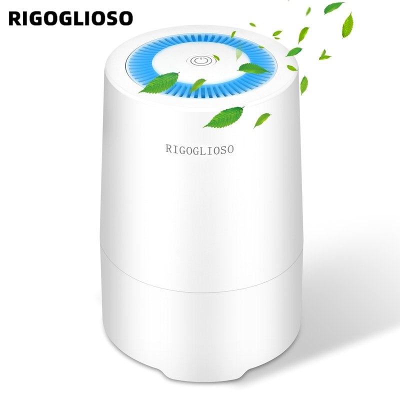 RIGOGLIOSO Air Purifier for Home with True HEPA Filter Night Light Portable Purifiers for Dust Smoke