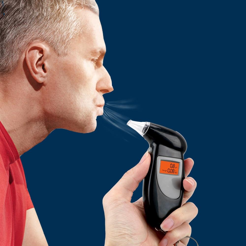 Alcoholímetro alcoholímetro Mini alcoholímetro Detector Digital de Alcohol Pantalla de retroiluminación portátil