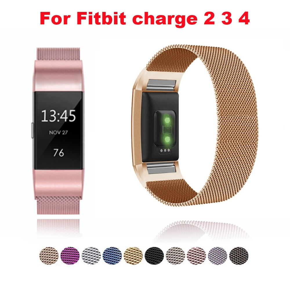 stainless-steel-magnetic-milanese-loop-band-for-fitbit-charge-2-band-replacement-wristband-strap-for-fitbit-charge-3-4-watchband