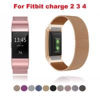 Нержавеющаясталь магнитный ремешок для часов, Миланская петля, ремешок для браслета Fitbit Charge 2 замена Браслет ремешок для Fitbit заряд 3 4 ремеш...