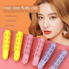 4 Pcs Natural Fluffy Hair Clip For Women Hair Root Curler Roller Wave Clip Self-grip Root Volume Vol