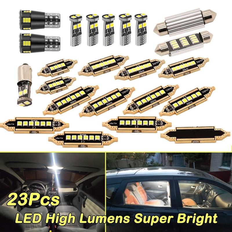 23 шт. Универсальный BMW гольф Специальный автомобильный светильник набор светодиодный T10 5050 Автомобильная лампочка внутренний купол багажни...