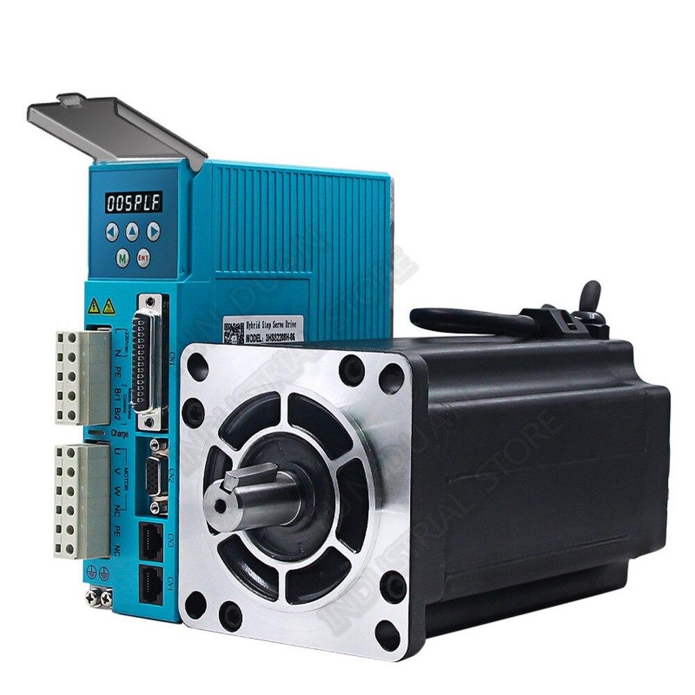 مجموعة محرك متدرج الحلقة المغلقة ، جهاز تشفير Hybird الرقمي ، تيار متردد ، سهل ، مجموعات محرك سيرفو JMC ، 8 نانومتر 110V-220VAC 3PH Nema34 86 2000RPM