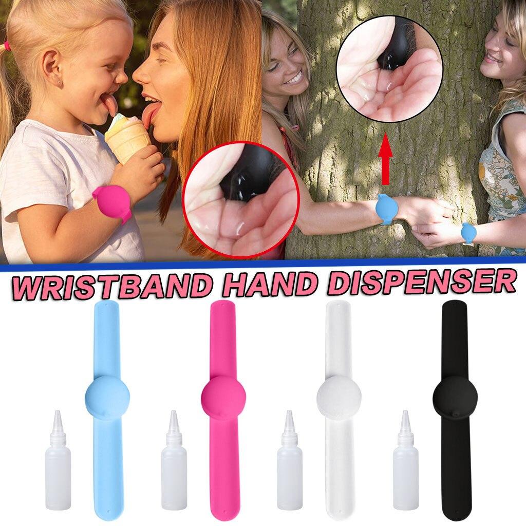 ¡Venta al por mayor! Nueva pulsera desinfectante de manos, Mini pulsera dispensadora portátil de color sólido, pulsera protectora de silicona