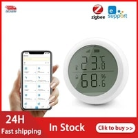 EWelink Smart Home ZigBee-Smart Home Temperature And Humidity Sensor With LED Display Real-time Detection Works With Zigbee Home
