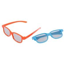 1pc 3D Glasses Children Size Circular Polarized Passive 3D Glasses For Real D 3D TV Cinema Movie 2 C