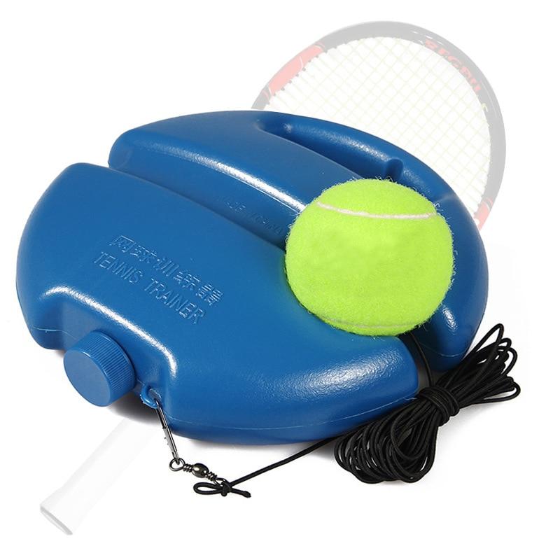 Tennis trainer single-player Tool Exercise Tennis Ball Sport Self-study Rebound Ball With Tennis ball Baseboard cricket dampener недорого