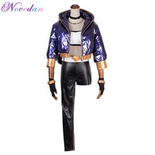 KDA Akali Cosplay déguisement LOL KDA Akali Cosplay déguisement femmes ensemble complet pour pantalon gants sac Halloween