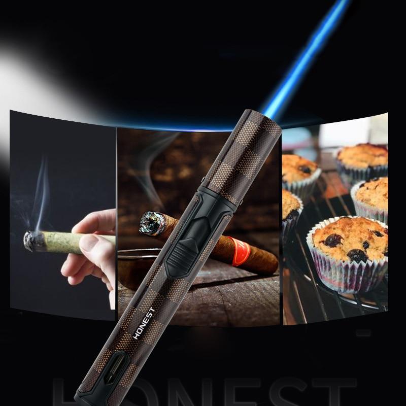 Turbobutane Torch Lighter Metal Gas Kitchen Cooking Jet Cigarette Lighter Men'S Gift Cigar Accessories