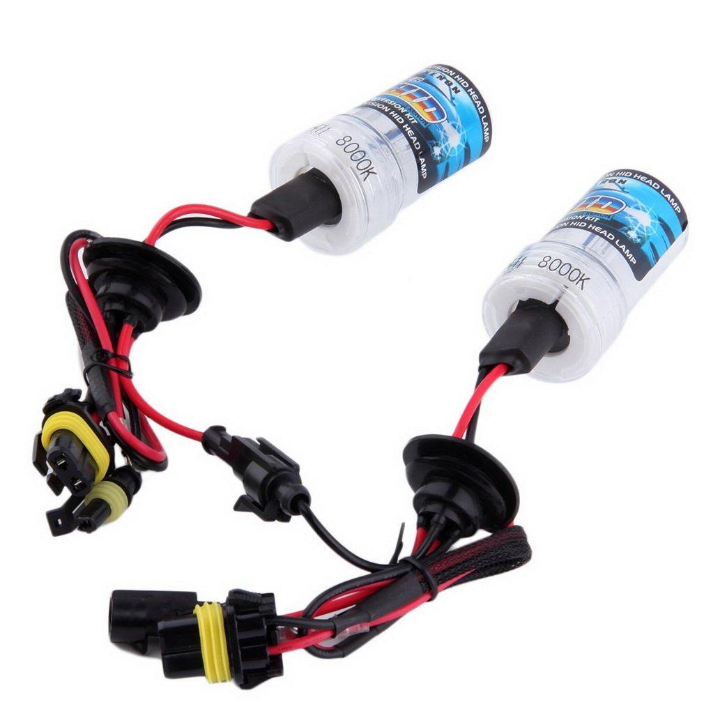 2 pces universal carro auto substituição h1 h4 h11 35w 12v cabeça luz lâmpada de poupança energia para luzes ao ar livre faróis
