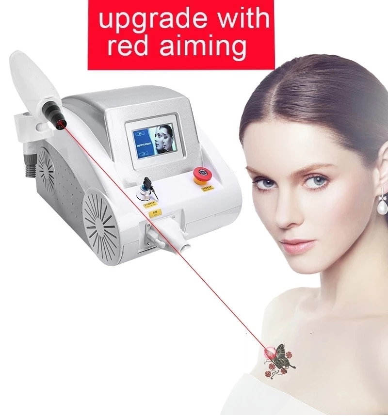 1064 532 1320nm ND YAG Laser Tattoo Removal Eyebrow Pigment Eyebrow Line Machine With Red Pointer tattoo remover laser machine