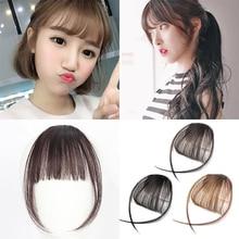 BUQI-postiche synthétique 4 couleurs   Postiche frange attachement Clip, faux cheveux, Extensions capillaires