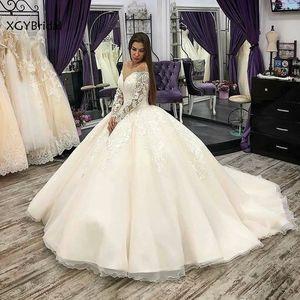 New Arrival Lace Bride Wedding dress 2021 Long Sleeve Appliques Embroidery Vintage Ball Gowns Wedding dresses Vestidos De Noiva