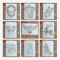 new a4 29 21cm many creative animal diy stencils wall painting scrapbook coloring photo album decorative paper card template