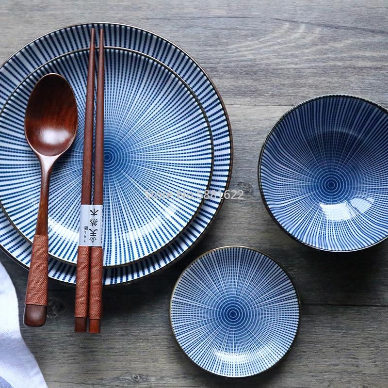 أفكار جديدة أدوات مائدة سيراميك أطباق عشاء مع الأطعمة الغربية ستيك أطباق عشاء 8 بوصة أطباق وألواح مجموعات